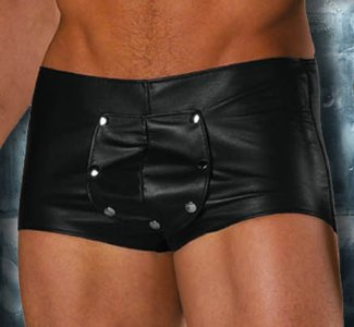 Allure Men's Underwear Leather Shorts 33-101