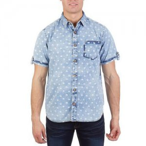 X-Ray Jeans Palms Buttondown Short Sleeved Shirt XMBS47012