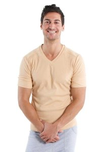 4-rth Hybrid V Neck Short Sleeved T Shirt Sand