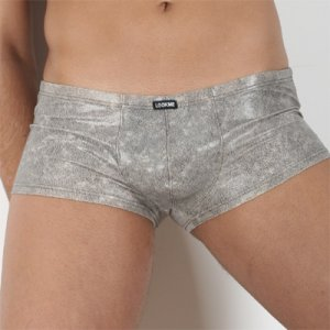 Lookme Snake Boxer Brief Underwear Silver 9043