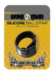Boneyard Silicone 3 Snap 1.5 Inch Ball Strap Black BY0310