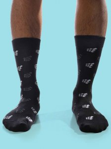 Curious Beaver Jed North Logo Socks Black