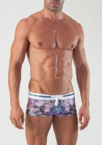 Geronimo Square Cut Trunk Swimwear Lilac 1505B2-2