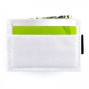 Ulterior Motive Nylon Card Case White/Silver/Navy