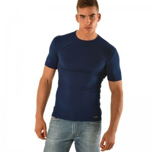 Roberto Lucca Slim Fit Short Sleeved T Shirt Navy Blue RL150S0218-00825