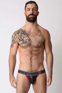 CellBlock 13 Liquid Skin Jock Strap Underwear Red CBU059