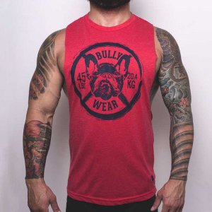 Bullywear 45 LBS Muscle Top T Shirt Red SST28HS