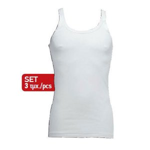 Minerva [3 Pack] Classic Eco Vest Muscle Top T Shirt White 10900