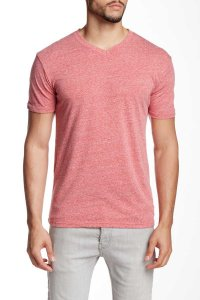 Mr.Swim The Casual V Neck Short Sleeved T Shirt Heather Red
