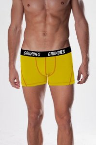 Grundies Muscle Boxer Brief Underwear Yellow/Orange