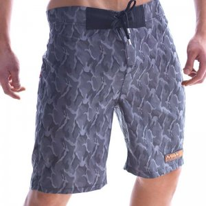 MIIW Physique Camo Boardshorts Beachwear Grey 4706-61
