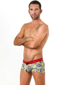 L'Homme Invisible Chains V Boxer Brief Underwear Yellow MY19-SLY