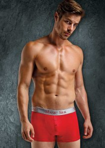 Magic Silk Silk Knit Button Shorts Underwear Red 6786