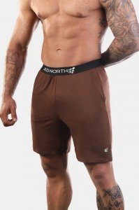 Jed North Zenith Workout Shorts Brown JNBTM005