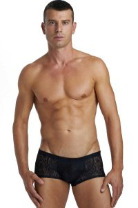 L'Homme Invisible Devore Mini Boxer Brief Underwear Black MY18-DE1