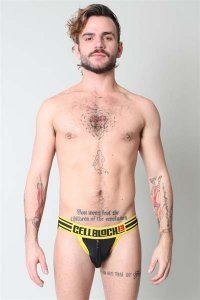 CellBlock 13 Ambush Jock Strap Underwear Yellow CBU056