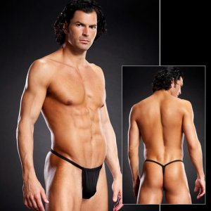 Blue Line Performance Microfiber G String Underwear Black BLM026
