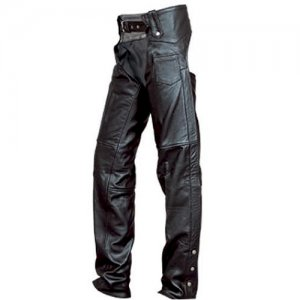 DBE Premium Leather Motorcycle Chaps Pants DBE2406