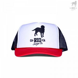 CA-RIO-CA Logotipo Two Toned Trucker Hat Black/Red/White CRC-H1002
