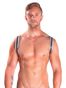 Mister B Leather Premium Sling Harness White 600340