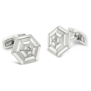Duncan Walton Ease Cufflinks Brush/Shiny C2826