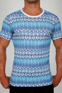 Pistol Pete Sedona Short Sleeved T Shirt Blue SS310-107