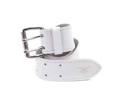 Mister B Leather 5cm Belt White 420340