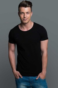 Exzo Classic TC Short Sleeved T Shirt Black