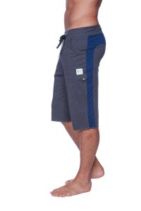 4-rth Eco Track Shorts Charcoal/Royal Blue