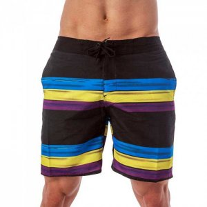 Lord Stripe Boardshorts Beachwear Light Blue MA014