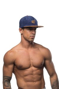 Jed North Signature Snapback Hat Navy/Brown AC001