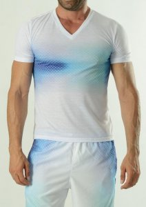Geronimo Short Sleeved T Shirt Blue 1608T3H-2