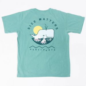 Party Pants Size Matters Short Sleeved T Shirt Peacock PM181057