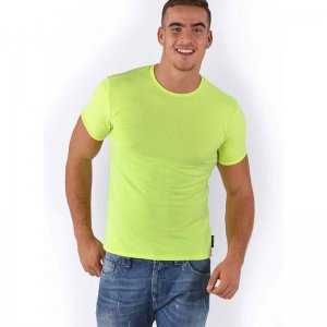 Roberto Lucca Slim Fit Short Sleeved T Shirt Neon Yellow 80218-00171