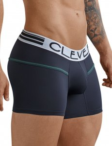 Clever Czech Piping Boxer Brief Underwear Black 2366