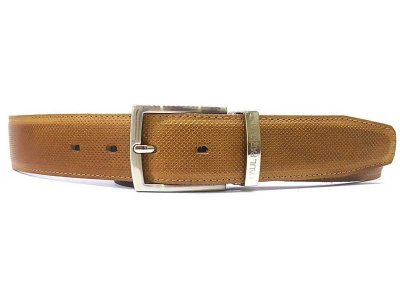 Paul Parkman Perforated Leather Belt Beige B08-BEJ
