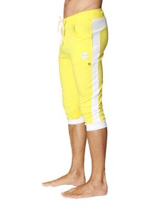 4-rth Cuffed Yoga 3/4 Pants Tropic Yellow/White