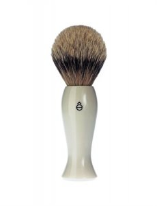 eShave Badger Hair Shaving Brush Finest White 782000