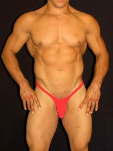 Arroyman No Rib Bulge Thong Underwear Red BUD011
