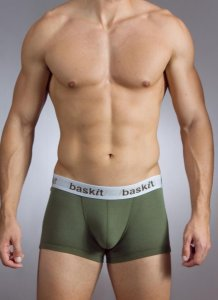 Baskit Action Cool All Mesh Low Rise Trunk Bronze Green Underwear M3400