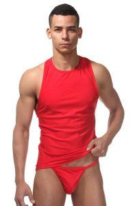 LaBlinque Tank Top & G String Set Red LB-15101