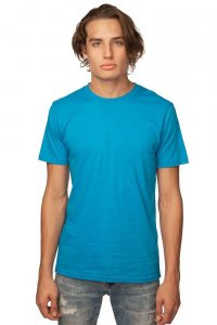 Royal Apparel Unisex Organic Short Sleeved T Shirt Malibu Blue 5051ORG