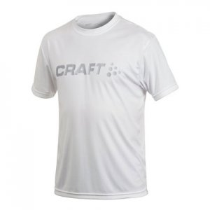 Craft Active Run Logo Short Sleeved T Shirt White 198921