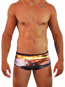 Project Contraband It's A Blur Square Cut Trunk Swimwear