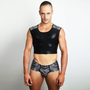 Downundergear Activator Africana Body Hugging Cropped Muscle...