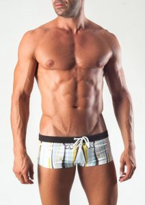 Geronimo Square Cut Trunk Swimwear Green 1503B2-2