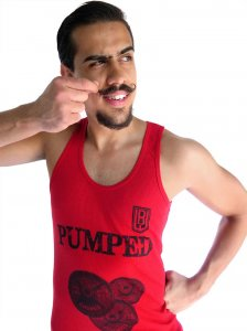 Bullywear Pumped Tank Top T Shirt Red SST26-TT