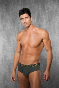 Doreanse Solid Boxer Brief Underwear Army Green 1778