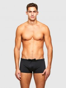 Diesel Hero 3D Logo Square Cut Trunk Swimwear Black