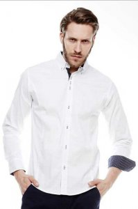 Carisma Slim Fit 16010-1 CRSM 8333 Long Sleeved Shirt White